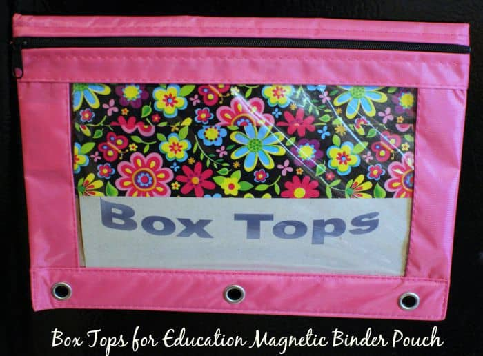 Box Tops for Education Magnetic Binder Pouch