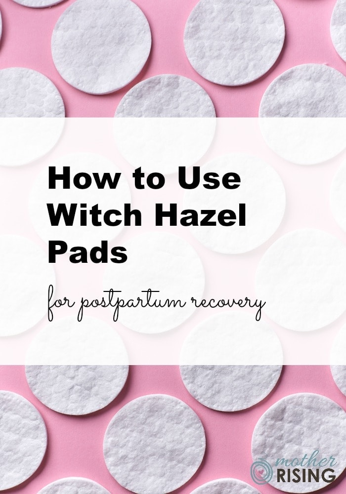 Witch hazel pads for postpartum recovery are a soothing and effective way to heal the body after birth. Witch hazel is an astringent that can reduce inflammation caused by common end of pregnancy symptoms and postpartum complaints like hemorrhoids, bruising, tearing, and stitches. #pregnancy #postpartum #tearing #hemorrhoids #childbirth #birth #thirdtrimester #hospitalbag #labor #delivery