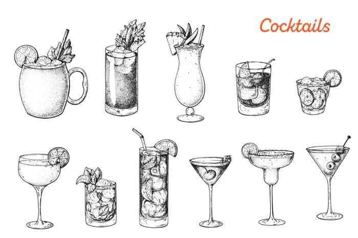 Alcoholics cocktails