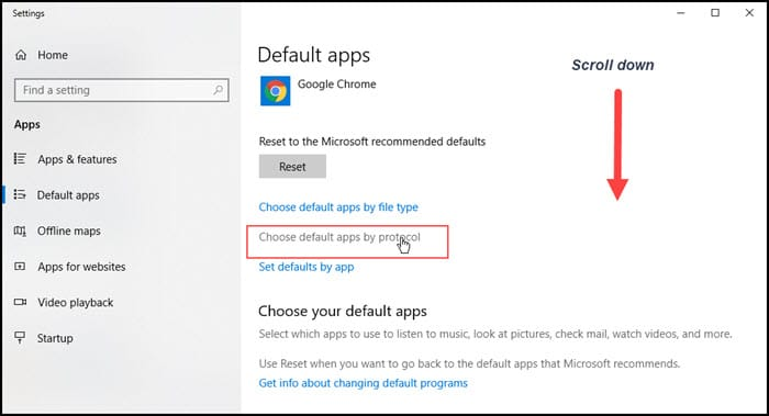 choosing default apps by protocol