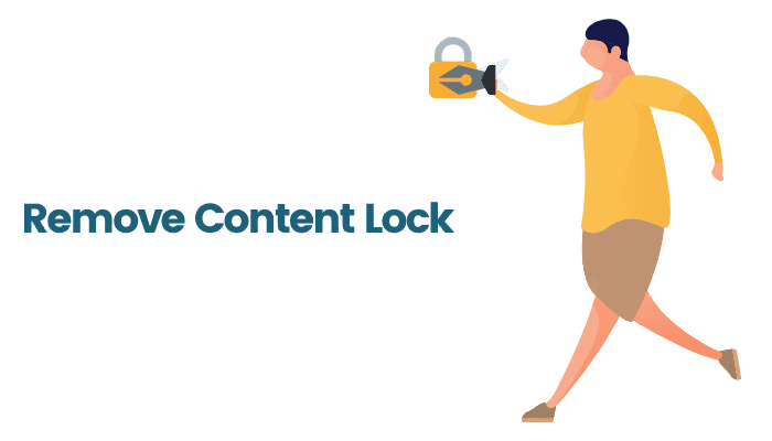 how to remove content lock ee
