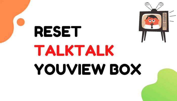 how do i reset my talktalk youview box