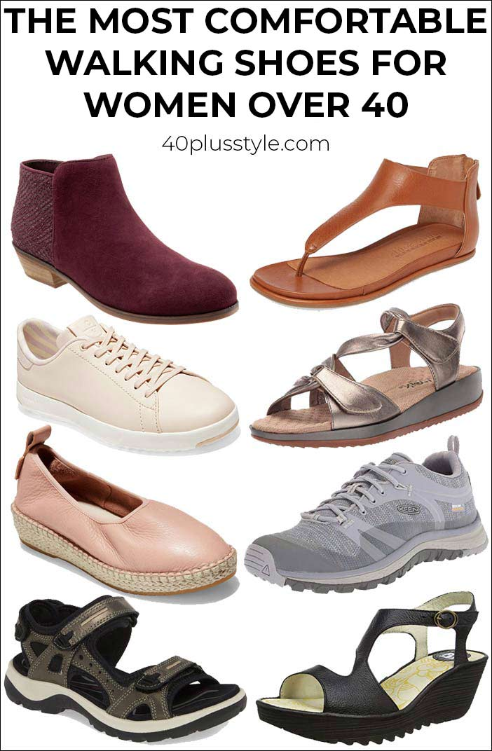 the most comfortable walking shoes for women over 40 | 40plusstyle.com
