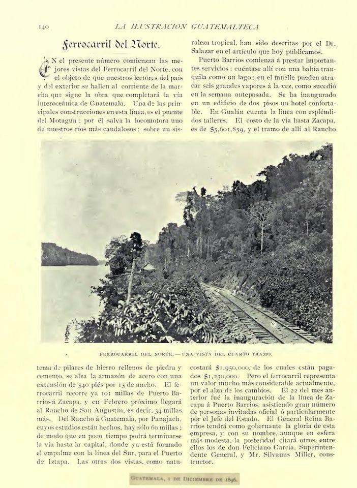 La Ilustración Gutemalteca, revista de la época