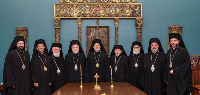 Announcement of the Holy Eparchial Synod of the GOA