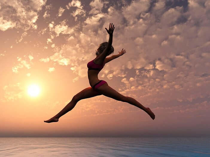 liberated girl free spirited flying