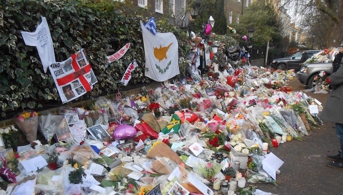 Thousands of people have visited, leaving flowers and memorials to Michael, who was one of the biggest pop singers in history.