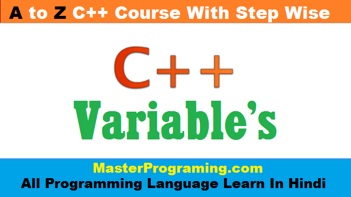 Variables In C++ Hindi