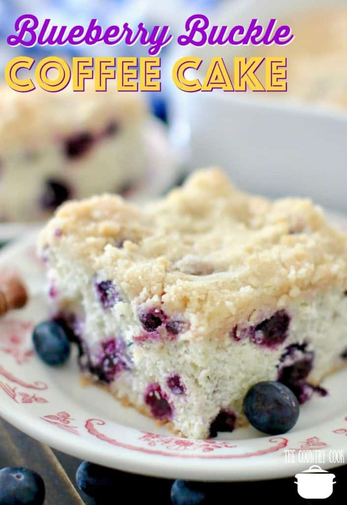 Blueberry Buckle Coffee Cake recipe from The Country Cook