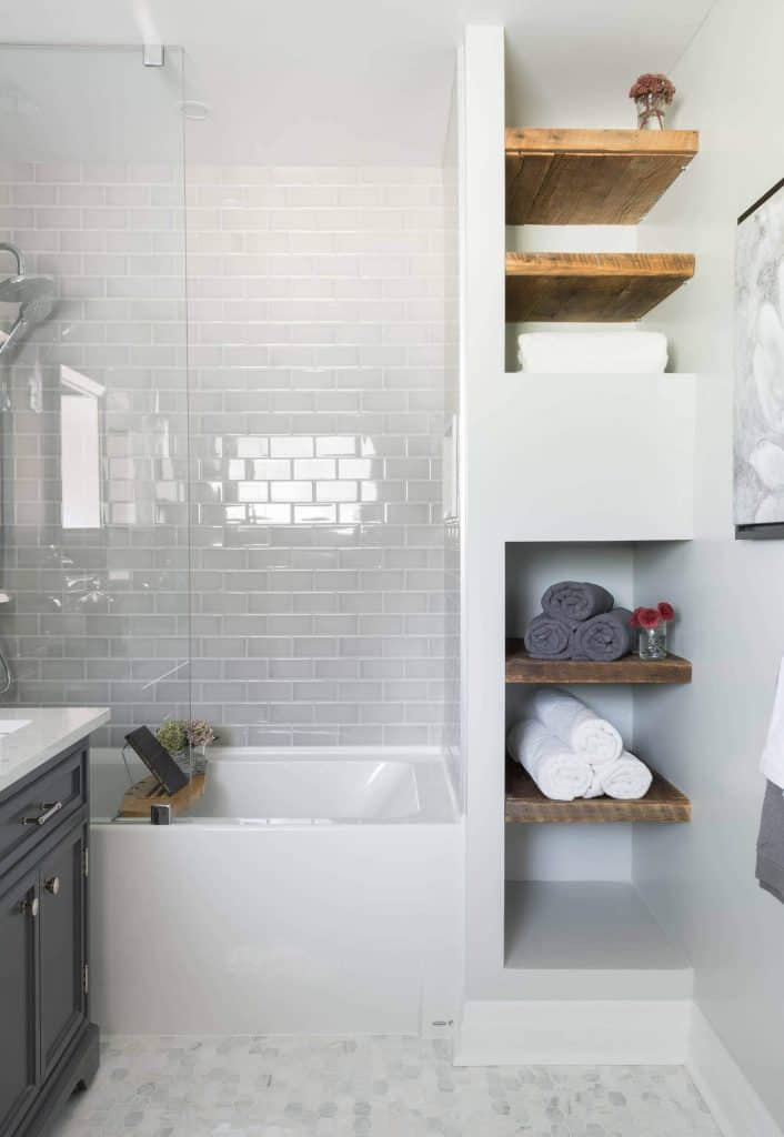 towel storage ideas with Small Shelf Areas for Towels
