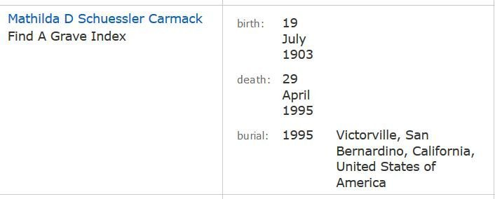 Find a Grave Carmack