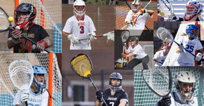 2018 Women's NCAA Lacrosse Goalie Stick Setups