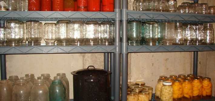 root cellar - preserved food