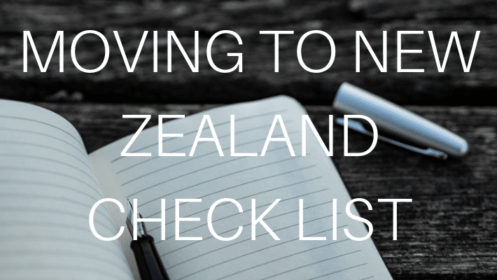 NEW ZEALAND CHECKLIST