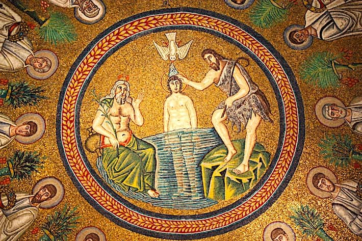 アリアーニ洗礼堂のモザイク画画像