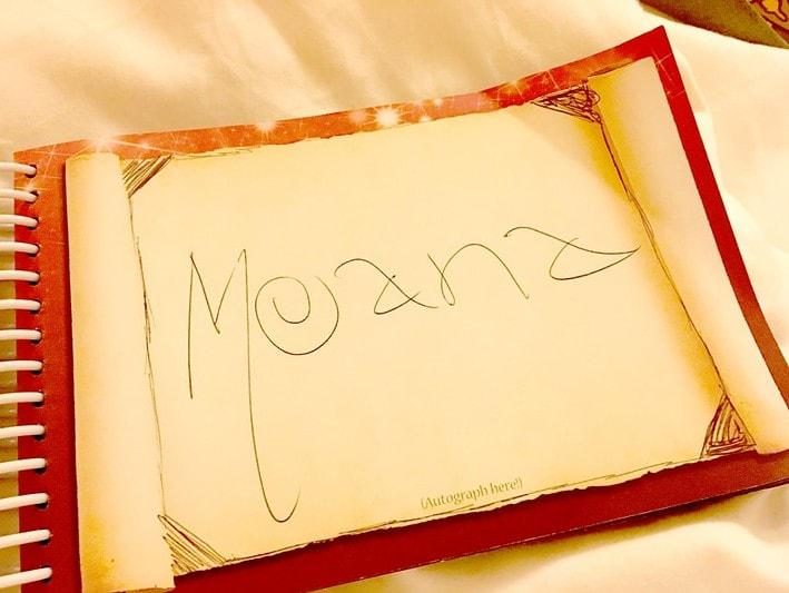 Moana Autograph