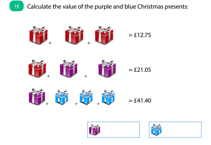 Question 18 of our KS2 Christmas Maths Quiz