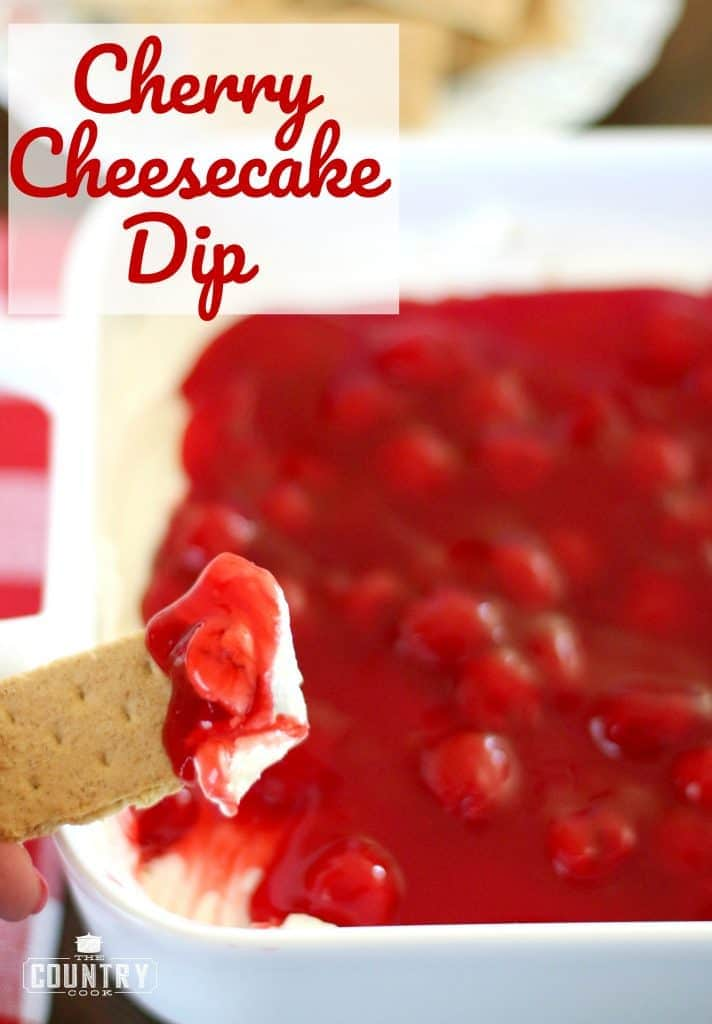 Cherry Cheesecake Dip recipe from The Country Cook