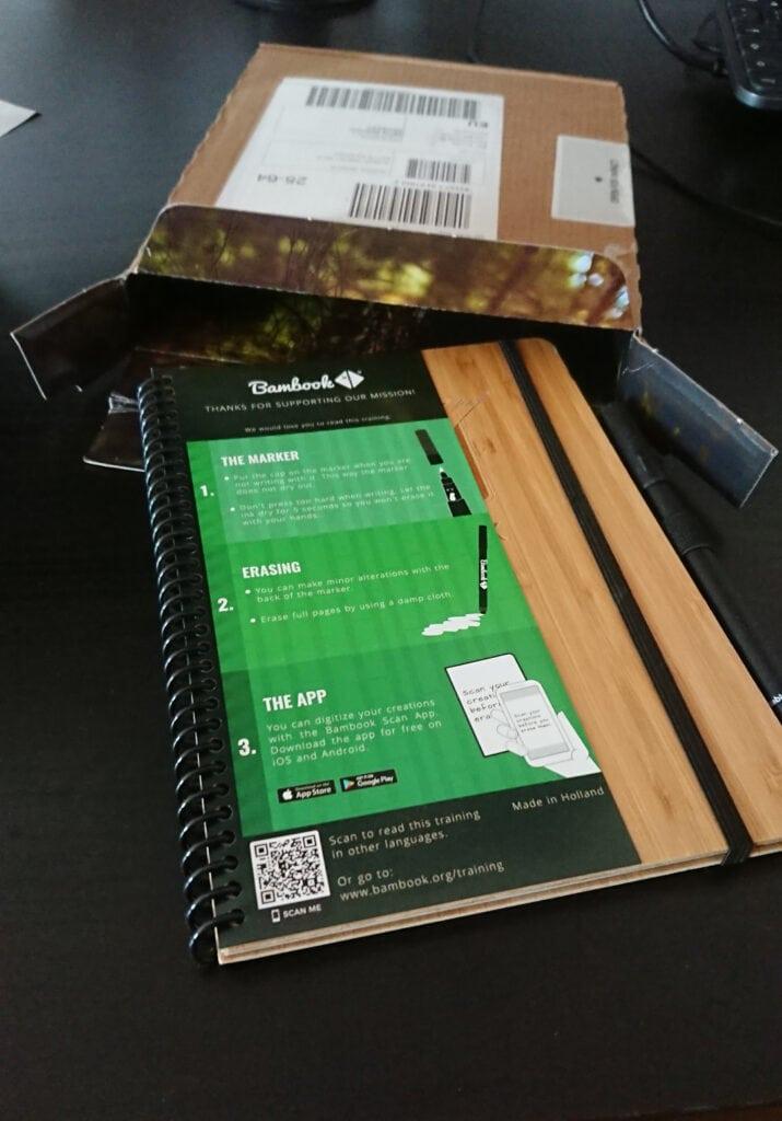 Do-Book mit Einführungszettel und Paket