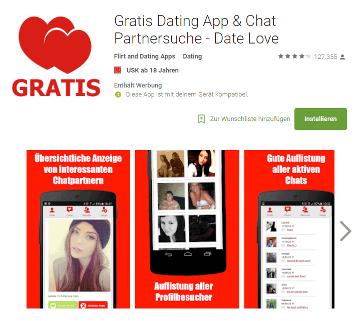 Date Love - Gratis Dating App & Mobiler Chat