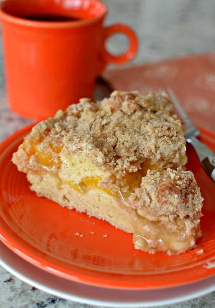 Dump Cake Made With Canned Peaches