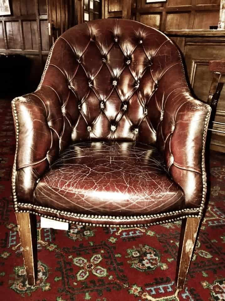 Aged Leather Chair