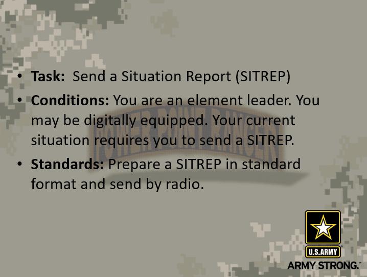 Send a SITREP