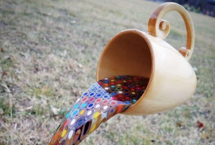 A Floating Coffee Cup