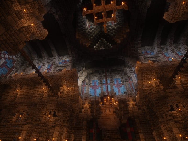 Cathedral of Keddis minecraft castle wall lake mountain download building ideas cementery medieval 11