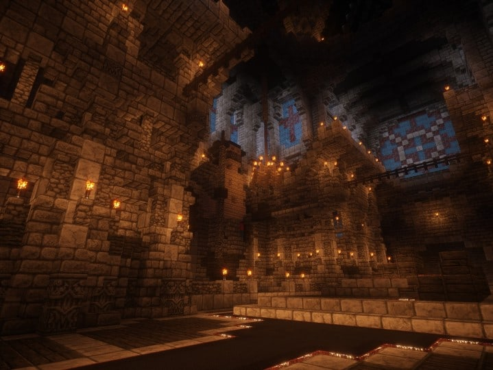 Cathedral of Keddis minecraft castle wall lake mountain download building ideas cementery medieval 12