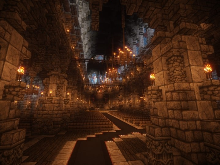Cathedral of Keddis minecraft castle wall lake mountain download building ideas cementery medieval 7