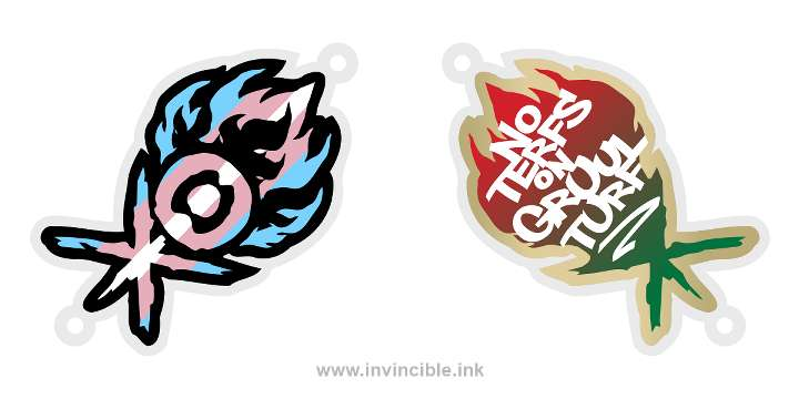 Preview of trans pride charm for the Gruul Guild