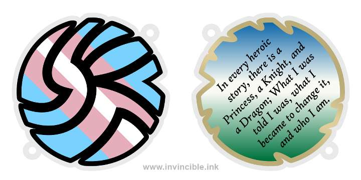 Preview of trans pride charm for the Bant shard