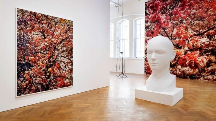 Vista da Instalação Bloom na exposição de Trevor Paglen