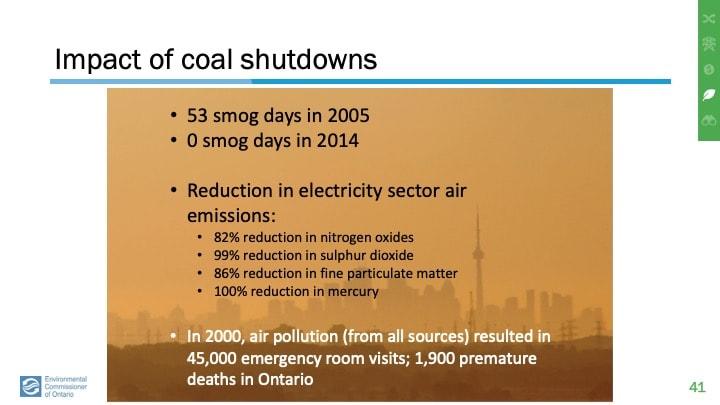 Coal made Ontario air filthy