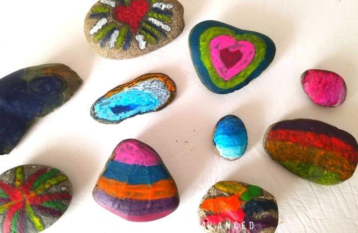 diy melted crayon rocks