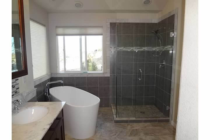 Glass Shower After Modern Bathroom Remodel