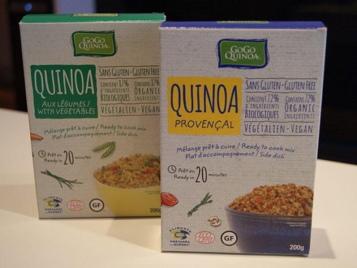 Le quinoa préparé de chez Gogo Quinoa
