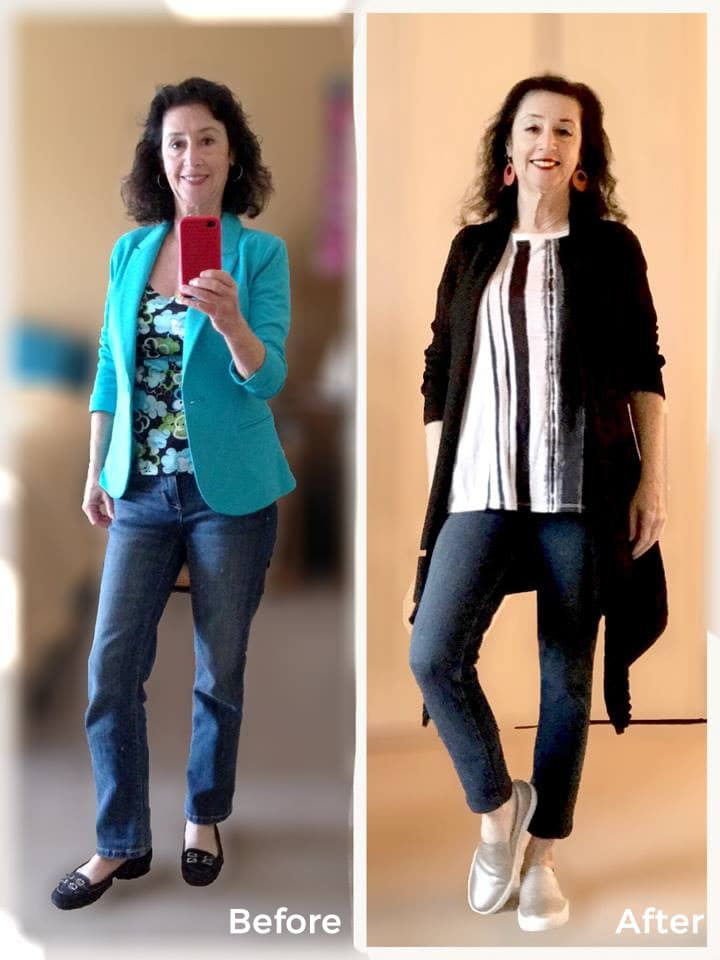 Ellen - Before and after the 21 steps style course | 40plusstyle.com