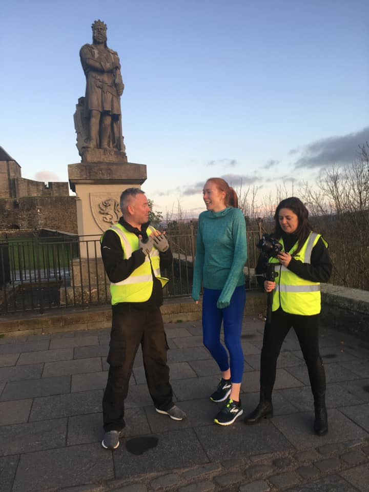Drone Scotland team filming a promotional video