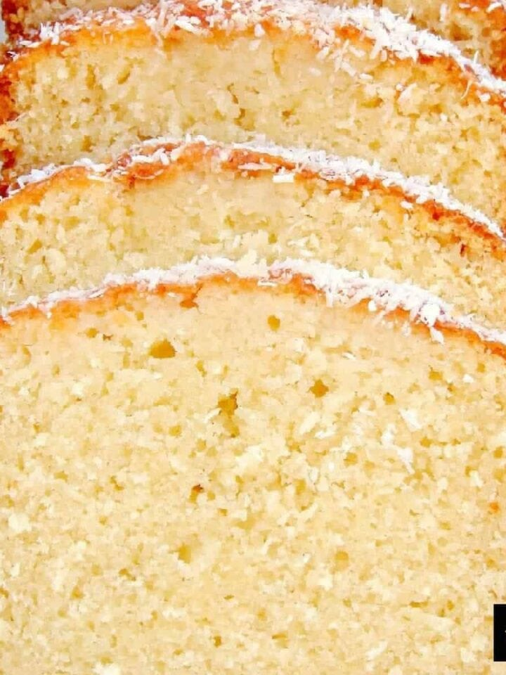 Coconut Pound Loaf Cake. Really easy recipe with great results every time