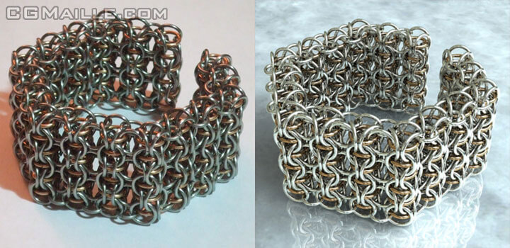 Unique chainmaille design software - you can create beautiful jewelry.