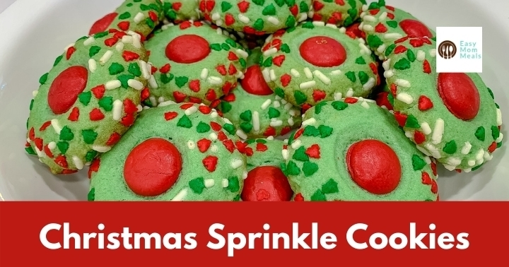 Festive Christmas thumbprint cookies {with sprinkles}