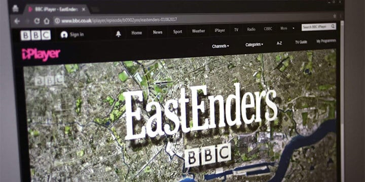 watching Eastenders online using iPlayer