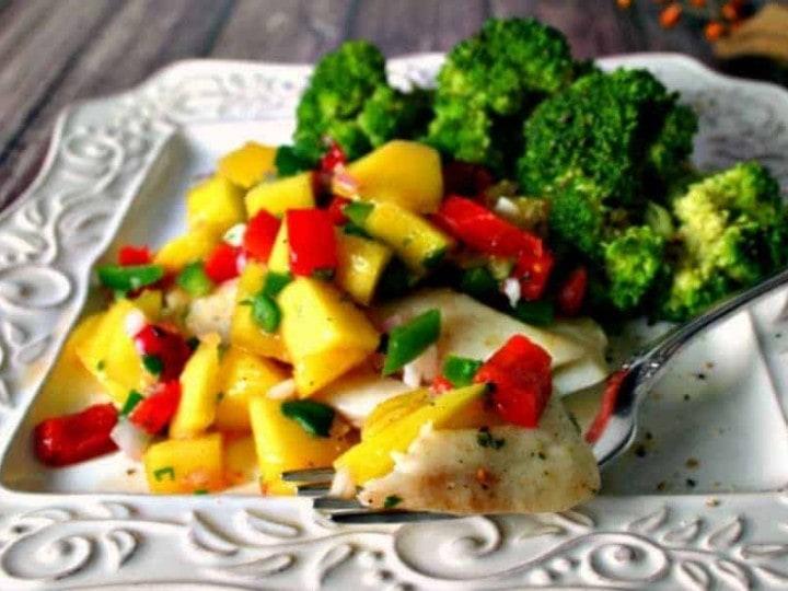 Poached Tilapia with Mango Salsa   Life, Love, and Good Food