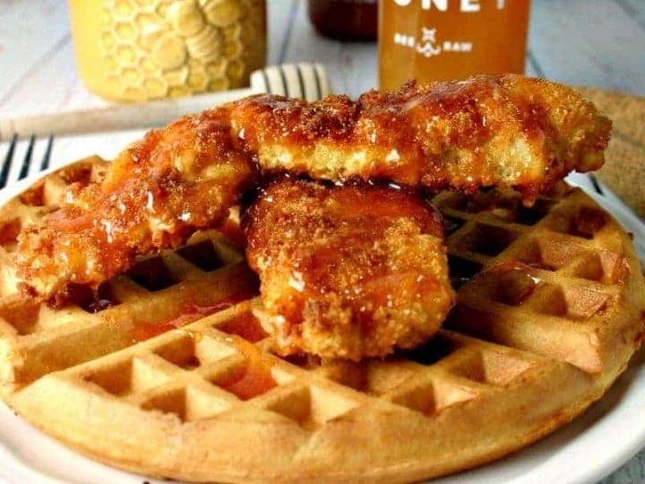 Hot Honey Chicken and Waffles