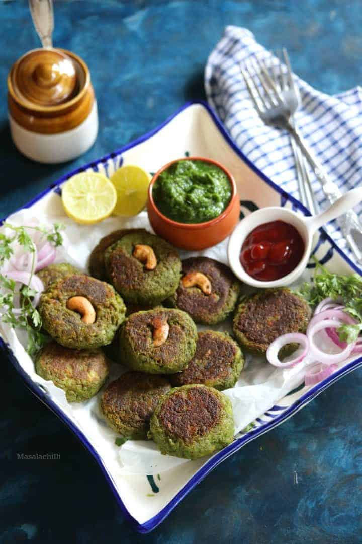 Hara Bhara Kabab (Air Fryer and Stove Top Method Included)