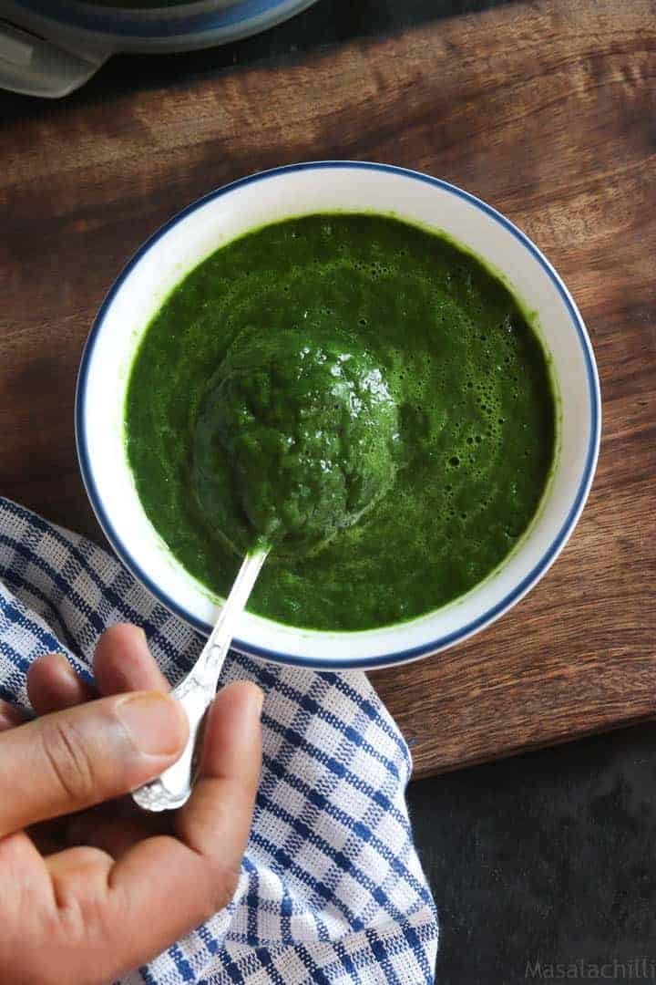 How to Make Spinach Puree | Homemade Palak Puree