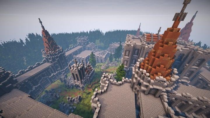 Abandoned Medieval Castle minecraft building blueprints download river 8