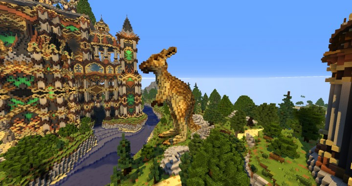 Andor The Two Suns city castle minecraft build ideas download tree river mote 7